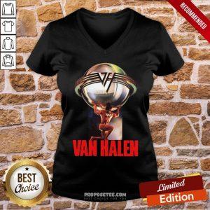 Eddie Van Halen 5150 Last Fm V-neck- Design By Proposetees.com