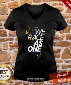 Funny McLaren We Race As One Mind V-neck- Design By Proposetees.com