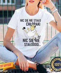 Funny Nic Sie Nie Stalo Chlopaki Nic Sie Nie Stalooo V-neck- Design By Proposetees.com