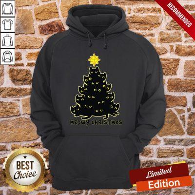 Good Black Cat Meowy Christmas Hoodie- Design By Proposetees.com