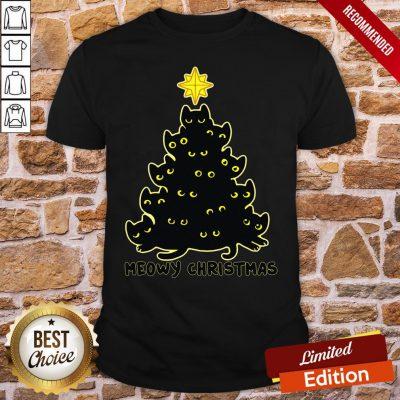 Good Black Cat Meowy Christmas Shirt- Design By Proposetees.com