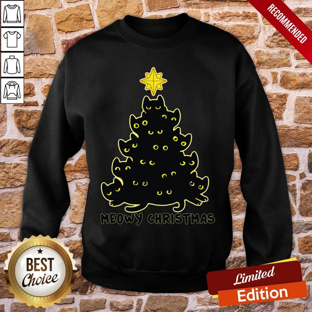 Good Black Cat Meowy Christmas Sweatshirt- Design By Proposetees.com