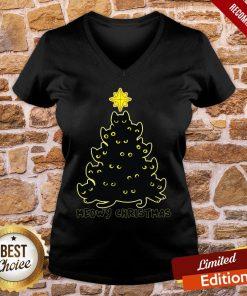 Good Black Cat Meowy Christmas Good Black Cat Meowy Christmas V-neck- Design By Proposetees.com