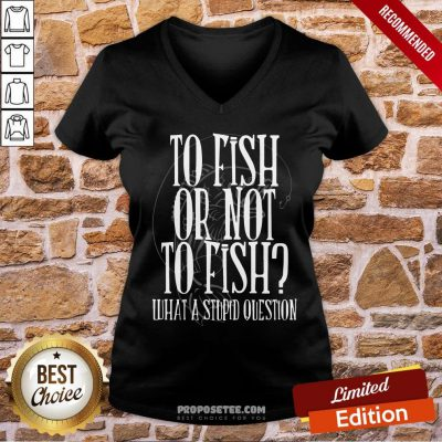 Good To Fish Or Not To Fish What A Stupid Question V-neck- Design By Proposetees.com