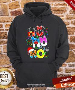 Ho Ho Ho Cute Disney Christmas Hoodie- Design By Proposetees.com