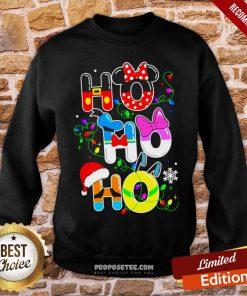 Ho Ho Ho Cute Disney Christmas Sweatshirt- Design By Proposetees.com