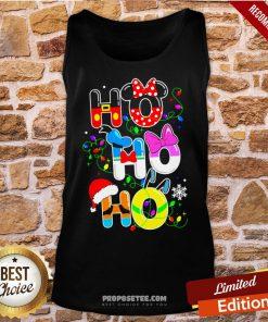 Ho Ho Ho Cute Disney Christmas Tank-Top- Design By Proposetees.com