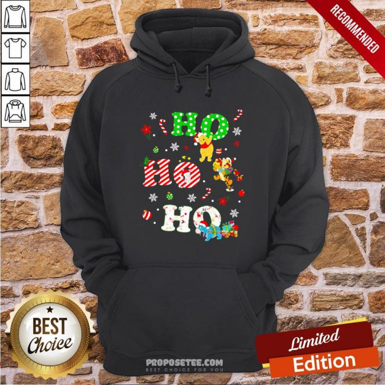 Ho Ho Ho Pooh And Friends Christmas Hoodie- Design By Proposetees.com