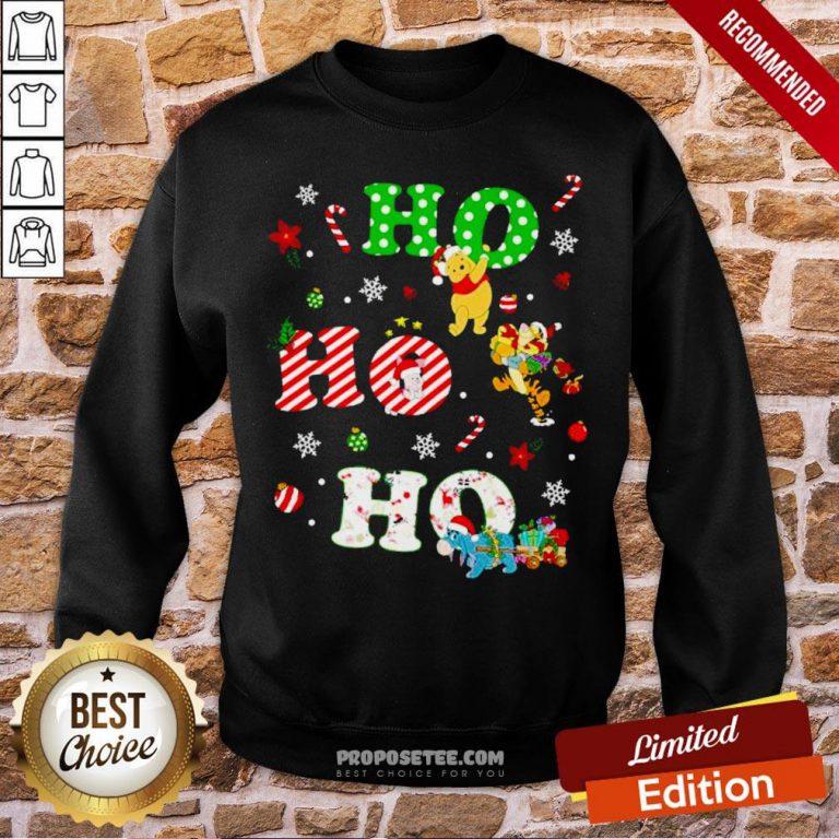 Ho Ho Ho Pooh And Friends Christmas Sweatshirt- Design By Proposetees.com