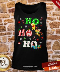 Ho Ho Ho Pooh And Friends Christmas Tank-Top- Design By Proposetees.com