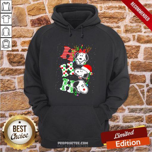 Ho Ho Ho Snoopy Christmas Hoodie- Design By Proposetees.com