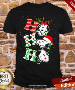 Ho Ho Ho Snoopy Christmas Shirt- Design By Proposetees.com