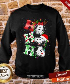 Ho Ho Ho Snoopy Christmas Sweatshirt- Design By Proposetees.com