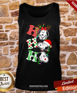 Ho Ho Ho Snoopy Christmas Tank-Top- Design By Proposetees.com