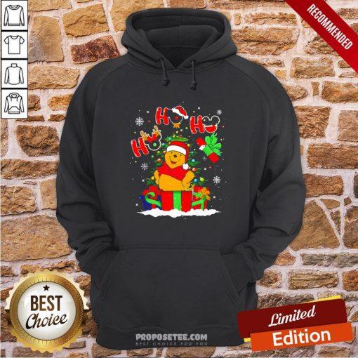 Ho Ho Ho Winnie The Pooh Christmas Hoodie- Design By Proposetees.com