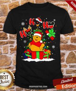 Ho Ho Ho Winnie The Pooh Christmas Shirt- Design By Proposetees.com