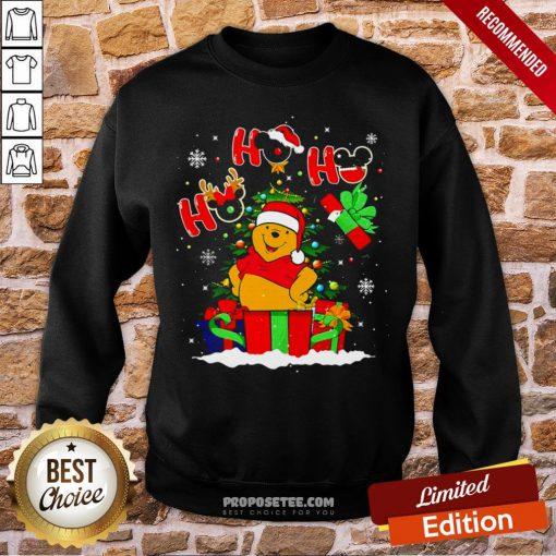 Ho Ho Ho Winnie The Pooh Christmas Sweatshirt- Design By Proposetees.com