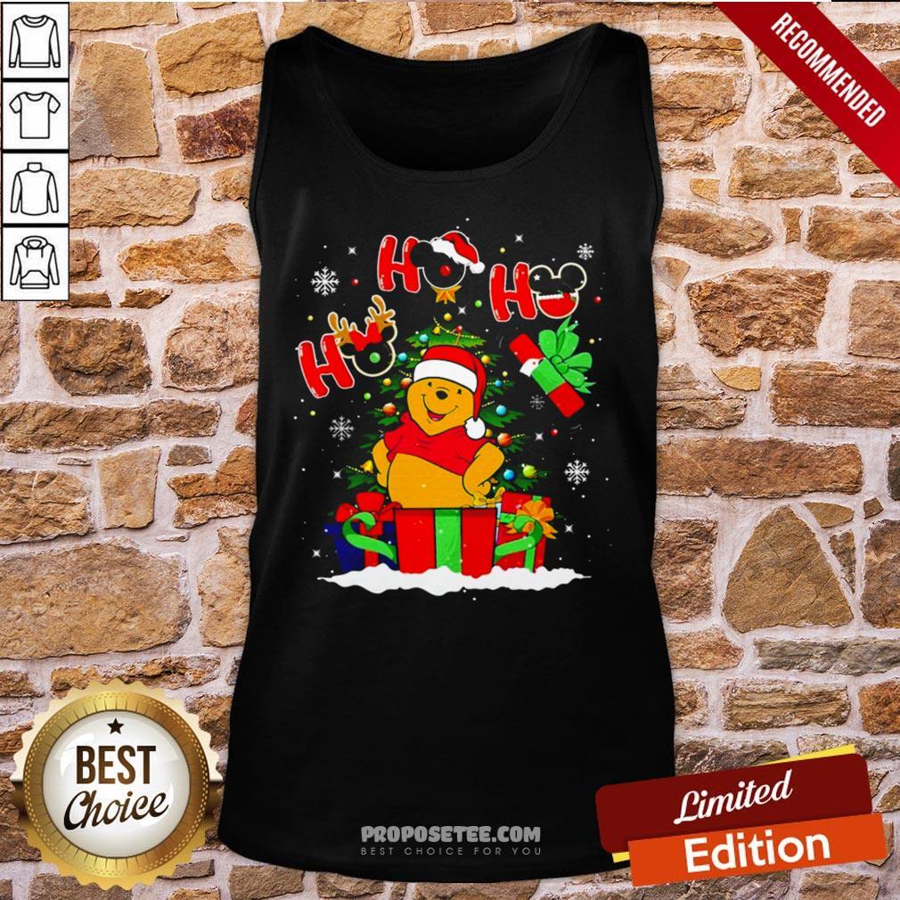 Ho Ho Ho Winnie The Pooh Christmas Tank-Top- Design By Proposetees.com