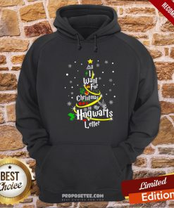I Want For Christmas Is My Hogwarts Letter Tree Hoodie- Design By Proposetees.com