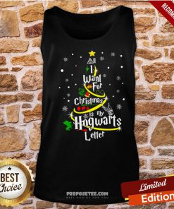 I Want For Christmas Is My Hogwarts Letter Tree Tank-Top- Design By Proposetees.com