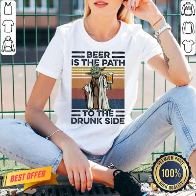 Master Yoda Beer Is The Path To The Drunk Side Vintage V-neck