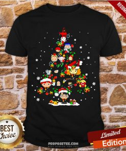 Merry Christmas Harry Potter Chibi Tree Shirt- Design By Proposetees.com