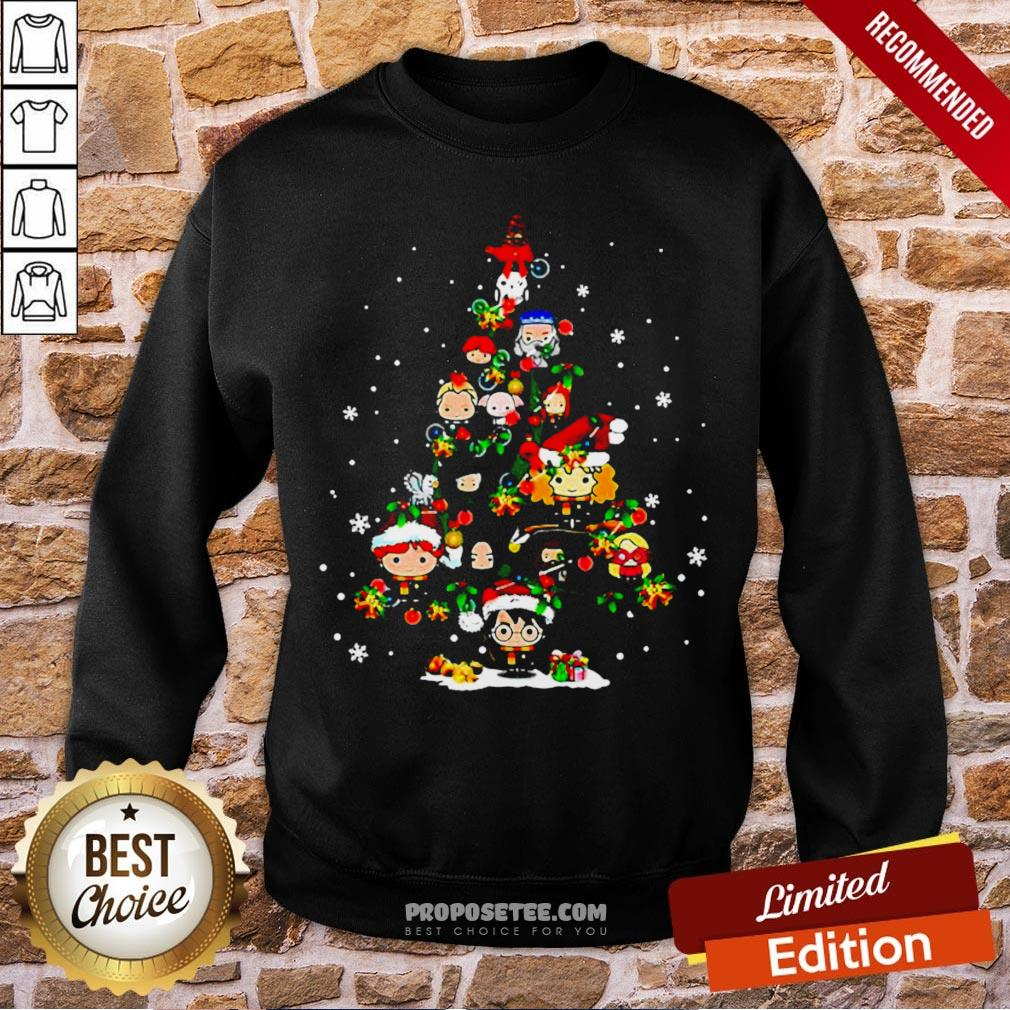 Merry Christmas Harry Potter Chibi Tree Sweatshirt- Design By Proposetees.com
