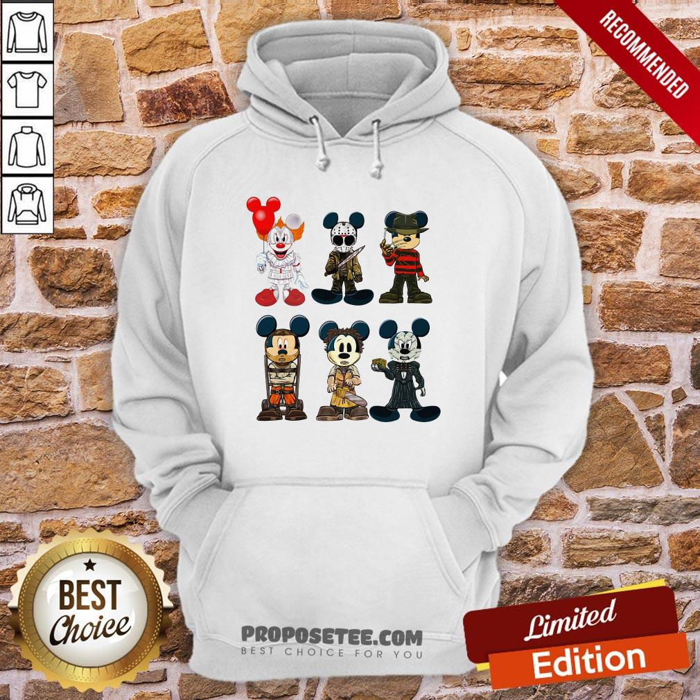 Mickey Mouse Style Horror Character Halloween Hoodie- Design By Proposetees.com
