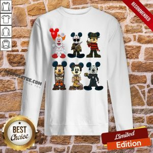 Mickey Mouse Style Horror Character Halloween Sweatshirt- Design By Proposetees.com