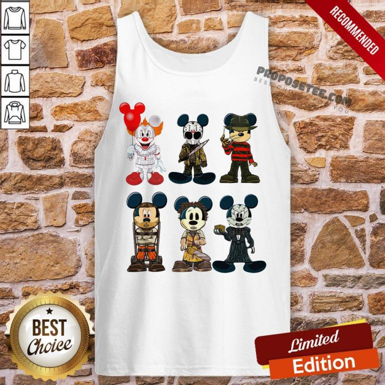 Mickey Mouse Style Horror Character Halloween Tank-Top- Design By Proposetees.com
