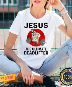Nice Jesus Weightlifting The Ultimate Deadlifter Moon V-neck- Design By Proposetees.com