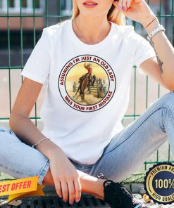 Official Horse Assuming I'm Just An Old Lady Was Your First Mistake V-neck- Design By Proposetees.com