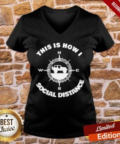 Official Social Distance Jeeping Off Road V-neck- Design By Proposetees.com