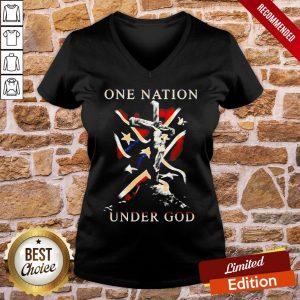Original One Nation Under God V-neck- Design By Proposetees.com