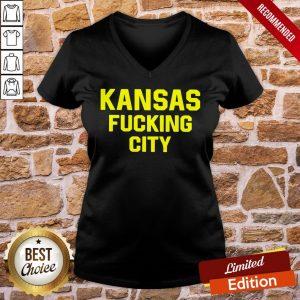 Premium Kansas Fucking City V-neck- Design By Proposetees.com