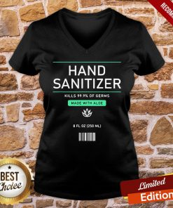Pretty Pretend Hand Sanitizer Funny And Easy Halloween Costume 2020 V-neck- Design By Proposetees.com