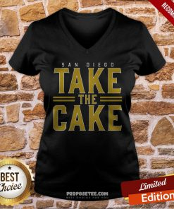 San Diego Take The Cake V-neck- Design By Proposetees.com