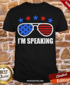 Star And Glass I'm Speaking American Flag Shirt- Design By Proposetees.com