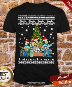 The Beatles Christmas Tree Ugly Christmas Shirt- Design By Proposetees.com