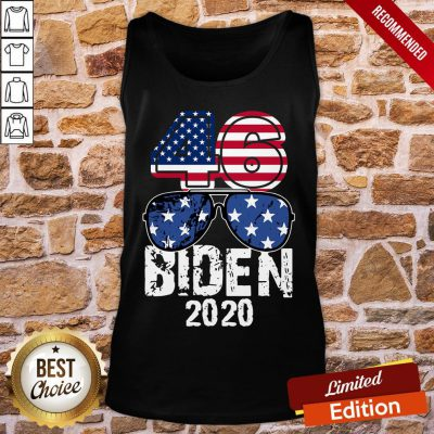 Awesome 46 Glasses Joe Biden 2020 American Flag Tank-Top- Design By Proposetees.com