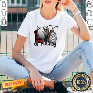 Awesome Love For The Of Hockey V-neck- Design By Proposetees.com