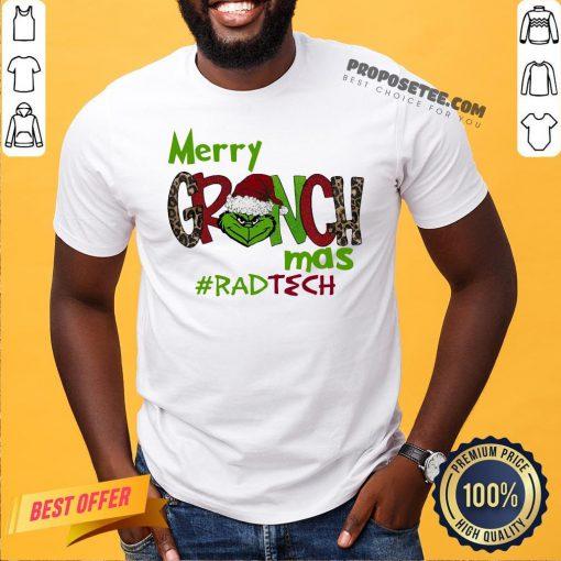 Awesome Merry Grinchmas #Rad Tech Christmas Shirt- Design By Proposetees.com