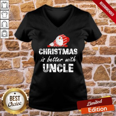 Awesome Snowman Christmas Is Better With Uncle V-neck- Design By Proposetees.com