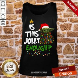 Awesome Yoda Is This Jolly Enought Tank Top-Design By Proposetees.com