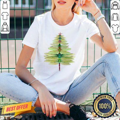 Funny Christmas Tree Print V-neck- Design By Proposetees.com