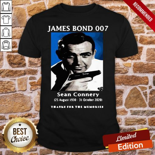 Funny James Bond 007 Sean Connery Thank For The Memories Shirt- Design By Proposetees.com