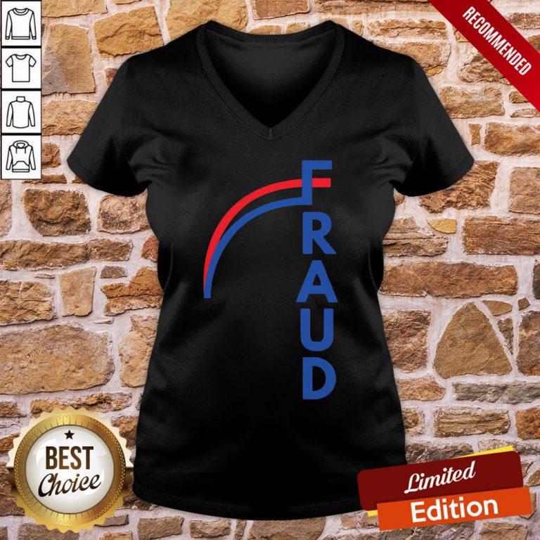 Funny Joe Biden Fraud V-neck- Design By Proposetees.com