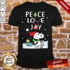 Funny Merry Christmas Peanuts Snoopy Peace Love Joy Shirt- Design By Proposetees.com