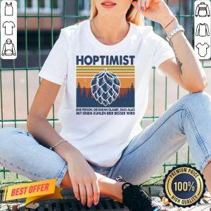Good Hoptimist Eine Person Die Daran Glaubt Dass Alles Vintage Retro V-neck- Design By Proposetees.com
