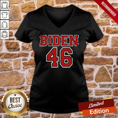 Good Logo Biden 46 Election V-neck- Design By Proposetees.comGood Logo Biden 46 Election V-neck